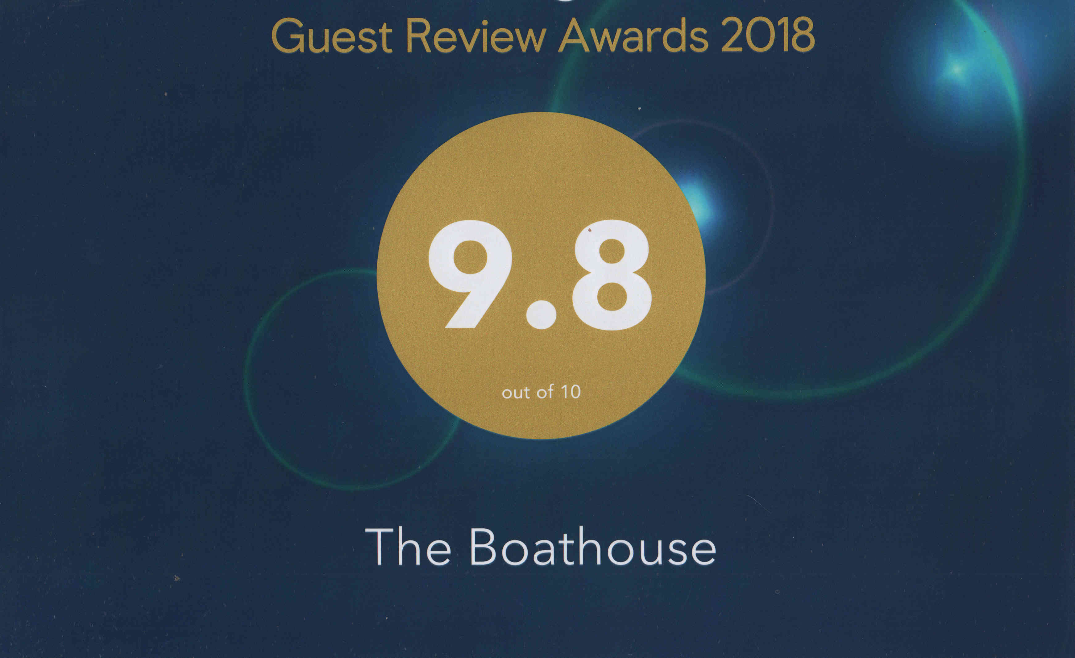Photo of Booking.com award 2018