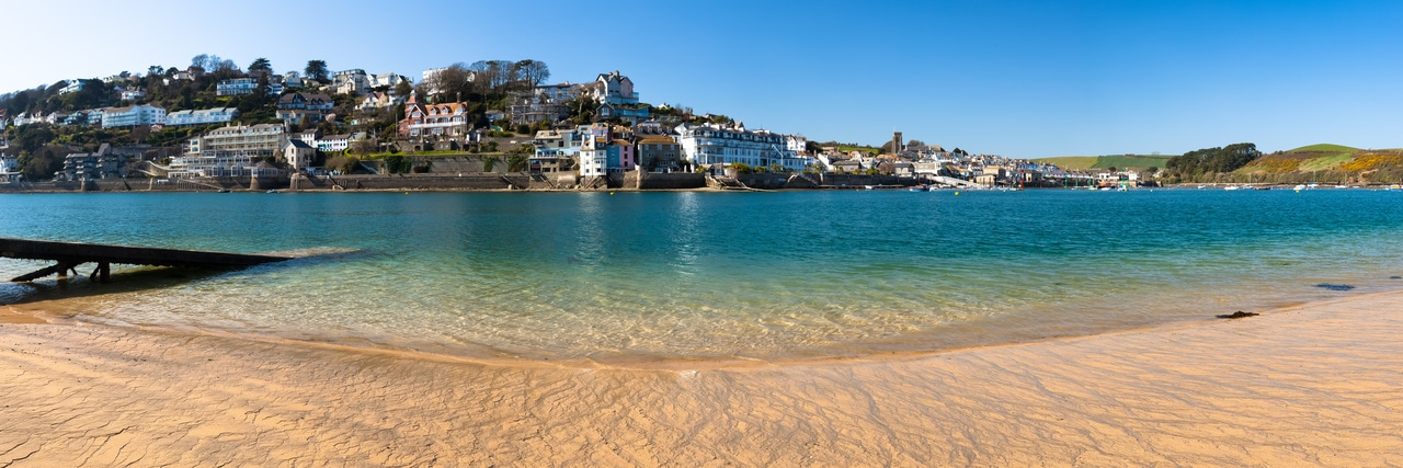 Panoramic photo of Salcombe